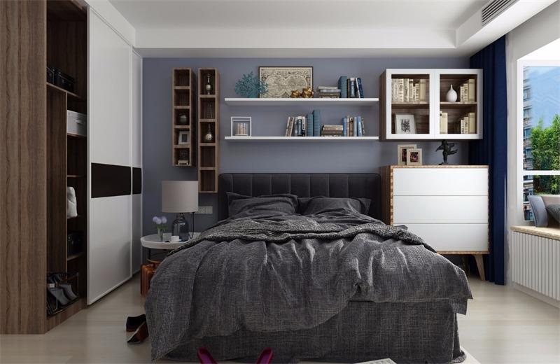 宜家卧室背景墙效果图
