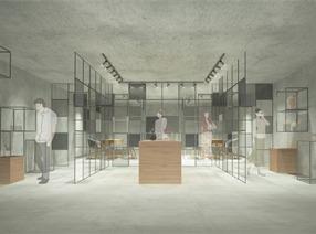 咖啡店+贩卖+个人工作室+原木