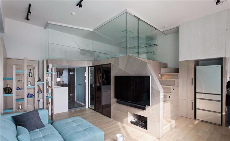 栓木皮,进口超耐磨木地板,大理石,银梨钢刷木皮   房屋类型:夹层设计