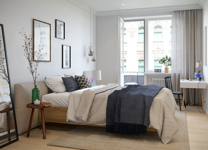 Scandinavian style apartment (9)