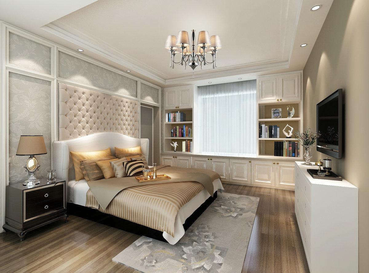 客厅在简约风格的基础上,用简单的花纹壁纸这种欧式元