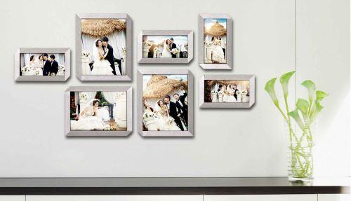10张照片的照片墙怎么摆放好看?