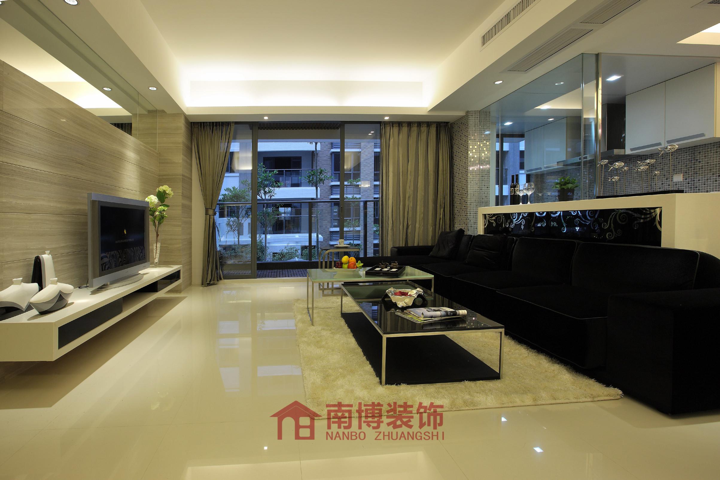 简约现代125平米三居室装修效果图_刘培秀设计作品