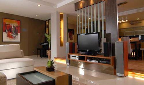 客厅隔断墙之古典电视背景墙设计