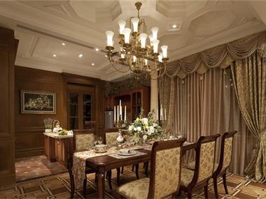 美式餐厅吊顶实景图