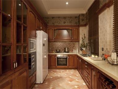 美式厨房橱柜实景图