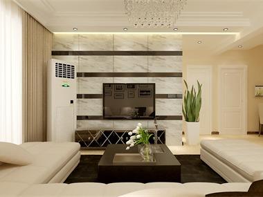 本案利用黑白灰色彩变换体现大气时尚的简约风格