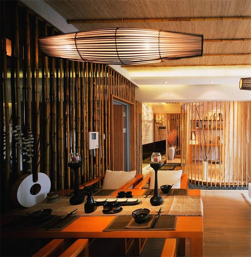 日式餐厅吊顶实景图