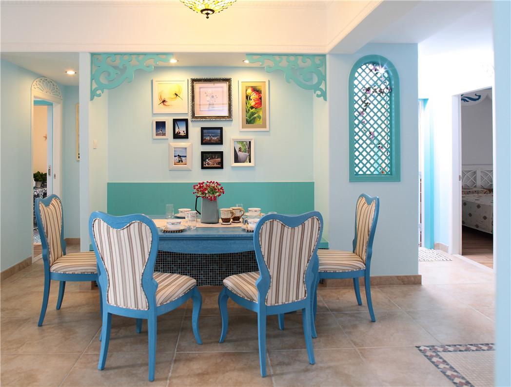 地中海餐厅照片墙实景图