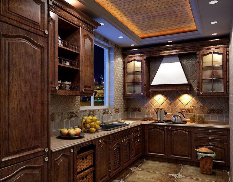 美式厨房效果图
