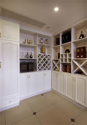 欧式储藏室酒柜效果图