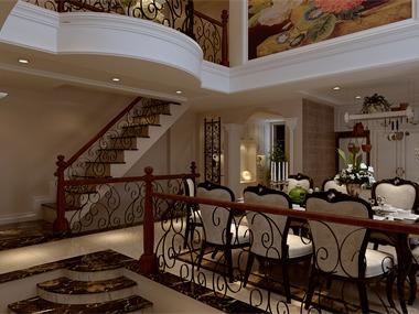 欧式餐厅楼梯效果图