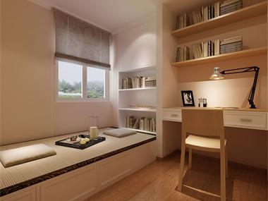 现代书房榻榻米效果图