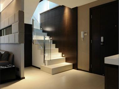 现代玄关楼梯效果图