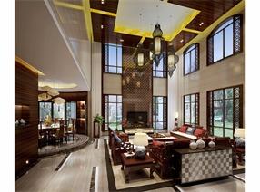 蓝山锦湾中式别墅设计
