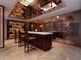 现代酒窖吧台效果图