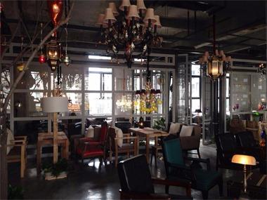 咖啡厅餐位区实景图