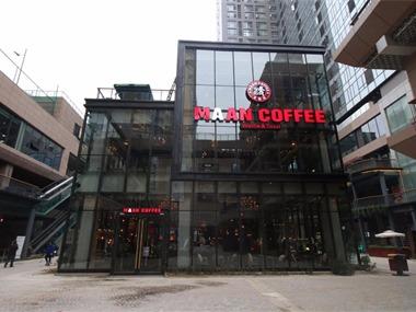 咖啡厅门头实景图