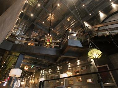 咖啡厅吊顶实景图