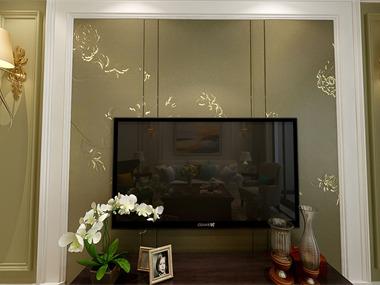 美式客厅电视背景墙效果图