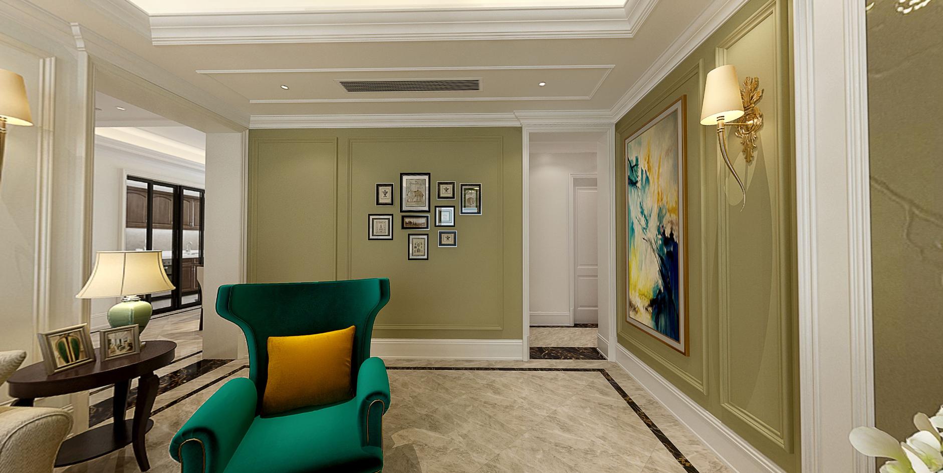 美式客厅照片墙效果图