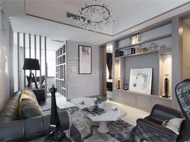 現代客廳吊頂實景圖