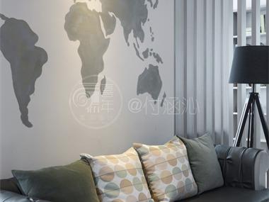 現代客廳沙發背景墻實景圖