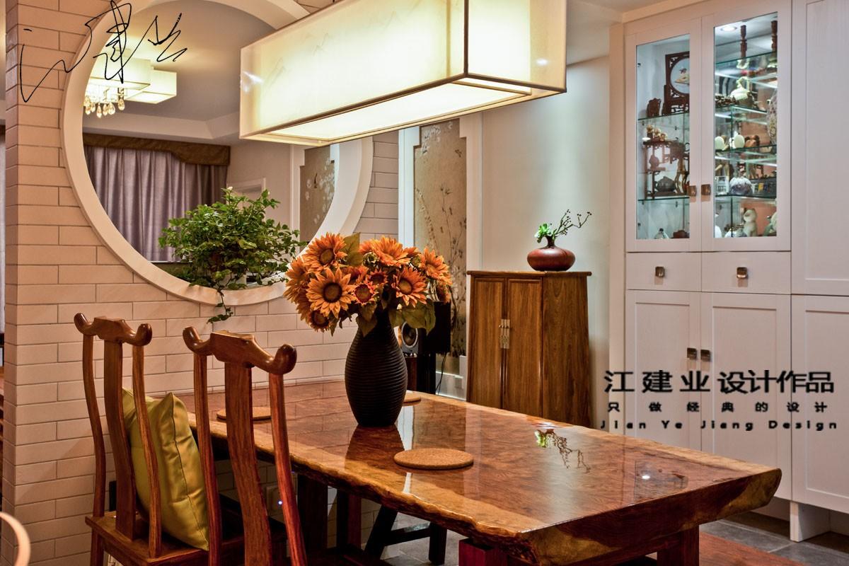 中式餐厅隔断实景图