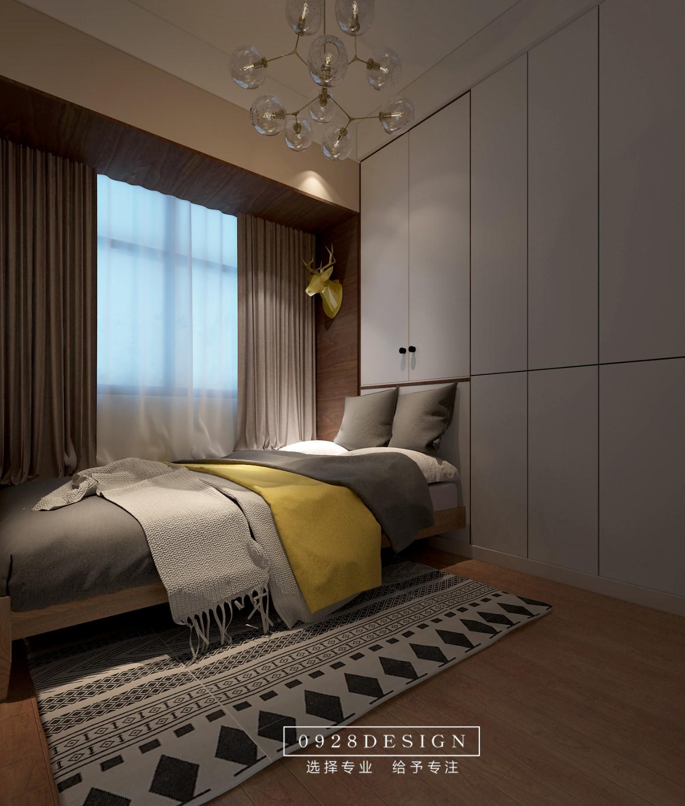 北欧卧室吊顶效果图