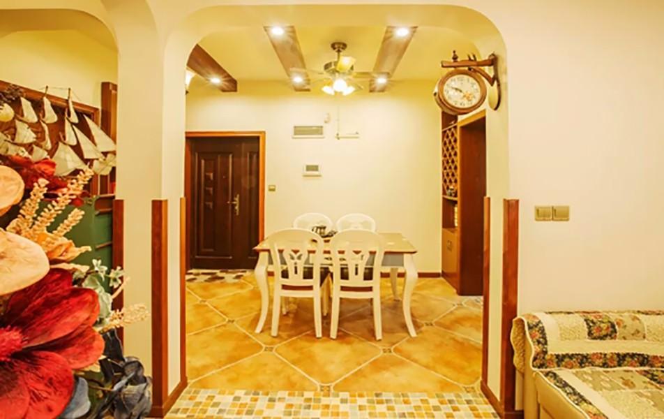 地中海餐厅吊顶实景图
