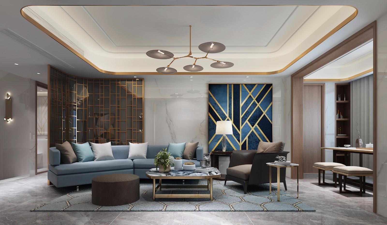 中式客厅吊顶效果图