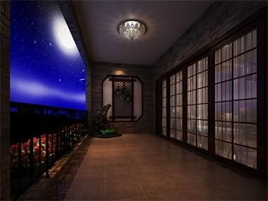 中式阳台吊顶效果图