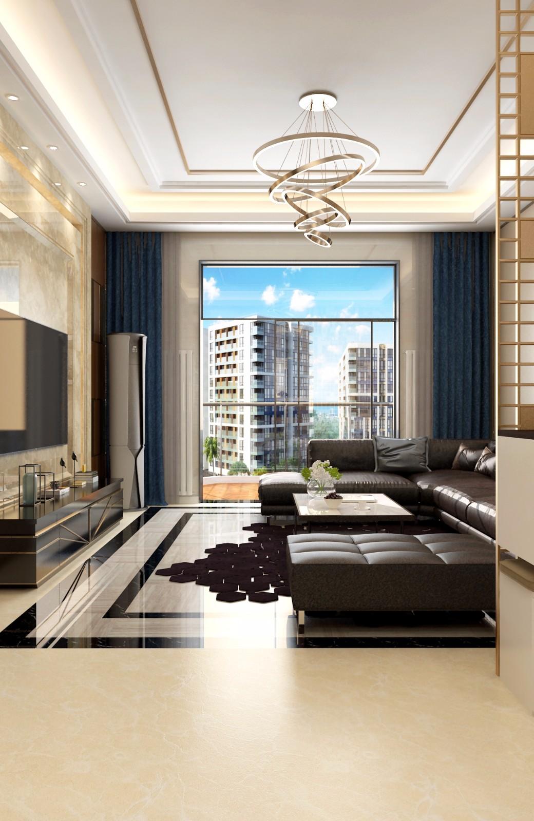 现代客厅飘窗效果图