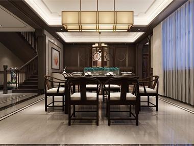 中式客厅隔断效果图