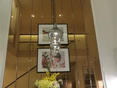 简欧餐厅吊顶实景图