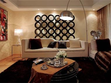 現代客廳沙發背景墻效果圖