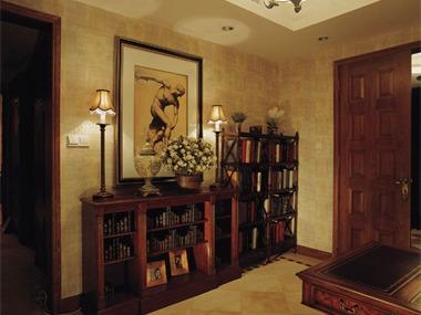 美式古典-花園別墅裝修實景圖玄關