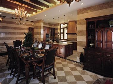 美式古典-花園別墅裝修實景圖廚房