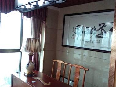 中式書房工作區效果圖