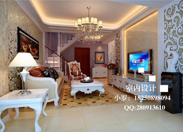 简欧客厅电视背景墙效果图