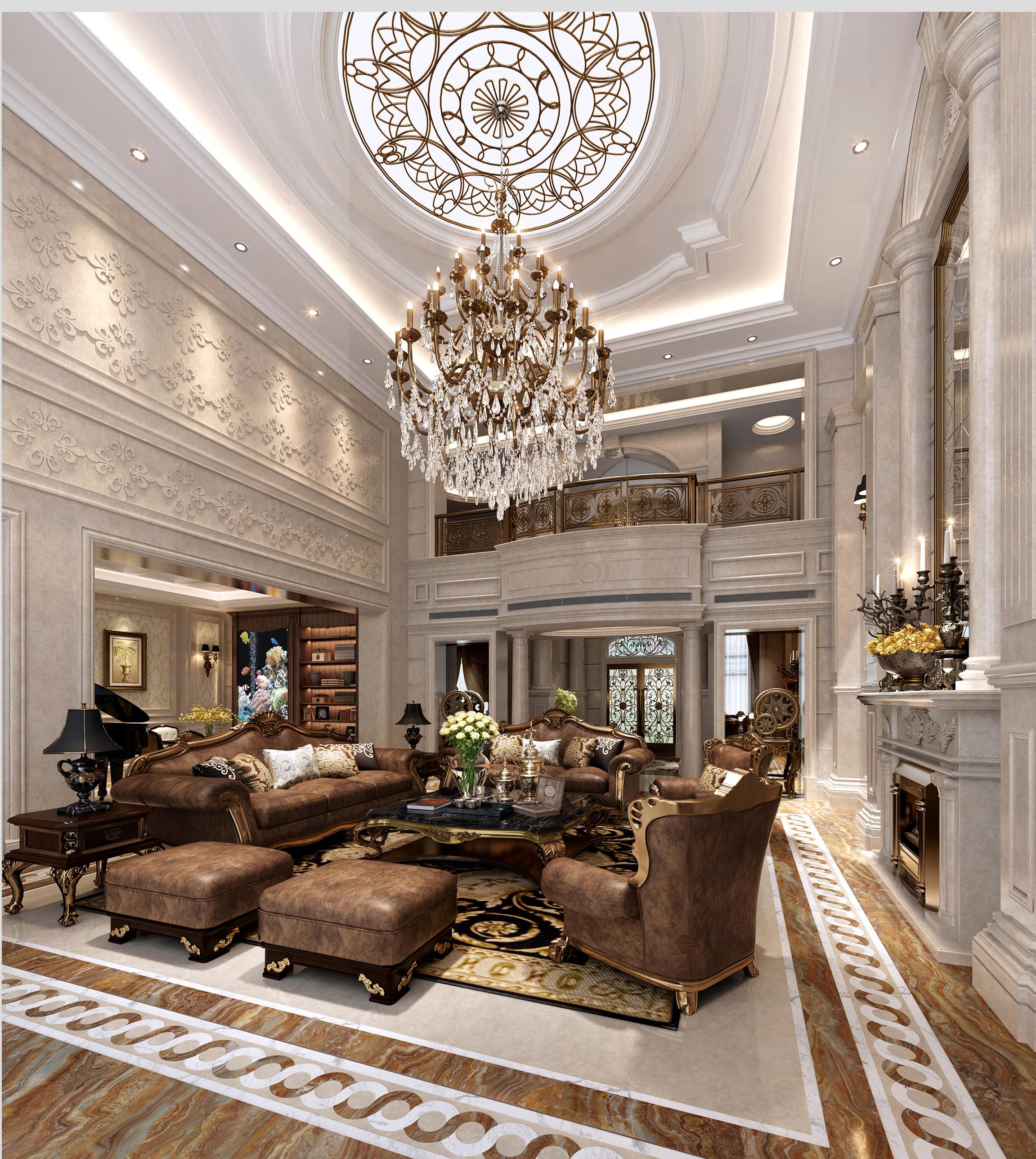 欧式客厅效果图