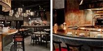为制造炭烤气氛,香港这家餐厅的设计充满烧焦感