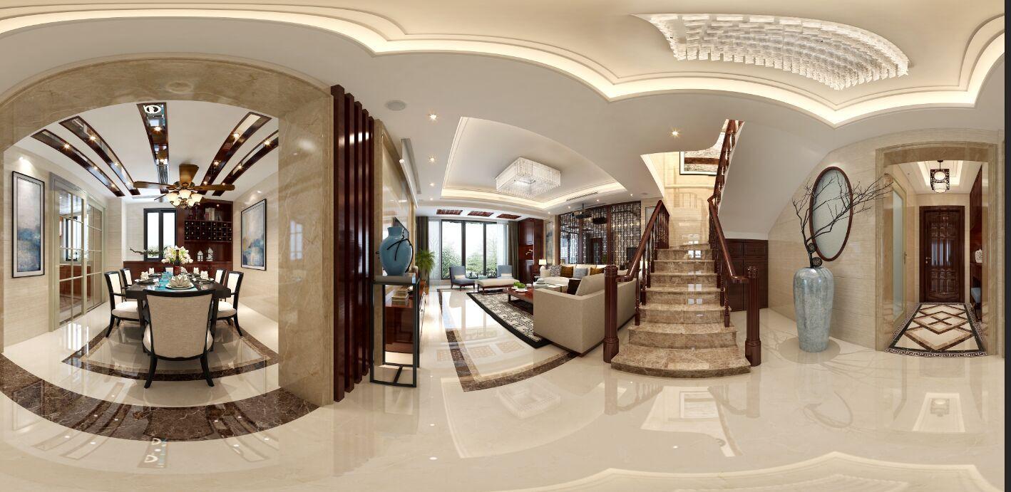 中式家装全景效果图