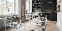 优雅黑白北欧老公寓 一贯的简约中又带有新古典的美感