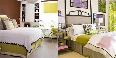 绿色卧室装修款式推荐 这才是春天卧室正确的打开方式