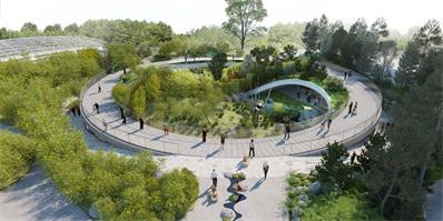 为迎接两只熊猫,哥本哈根动物园造了这个太极符号的熊猫馆
