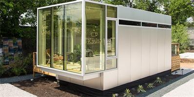 那位住垃圾箱的教授开发了一种可移动的微型单元住宅