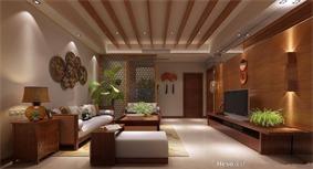 东南亚客厅隔断效果图