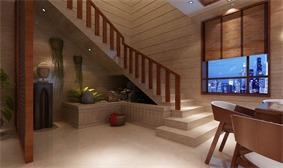 东南亚餐厅楼梯效果图