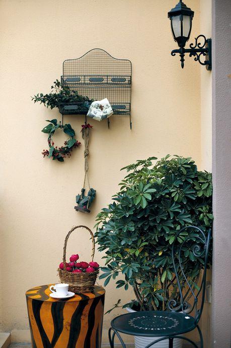地中海阳台背景墙效果图